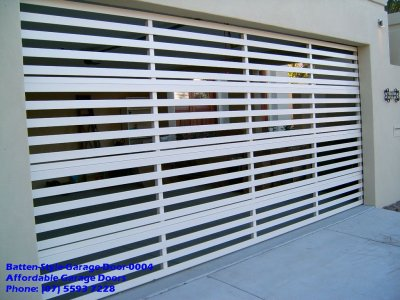 Batten Style Garage Door 0004