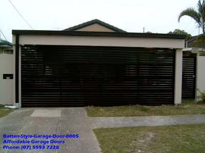 Batten Style Garage Door 0005